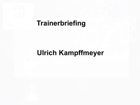 1 d.forum Trainerbriefing: die ECM Liga Dr. Ulrich Kampffmeyer PROJECT CONSULT Unternehmensberatung Dr. Ulrich Kampffmeyer GmbH Breitenfelder Straße 17.