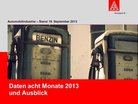 Automobilindustrie – Stand 19. September 2013