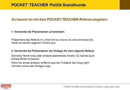 POCKET TEACHER Politik Sozialkunde