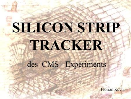 SILICON STRIP TRACKER des CMS - Experiments Florian Köchl.