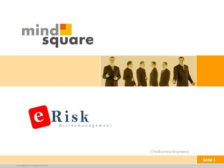 {The Business Engineers} copyright by mindsquare GmbH Seite 1 Risikomanagement e Risk.