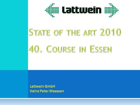 State of the art Course in Essen