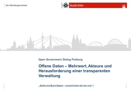 Open Government Dialog Freiburg