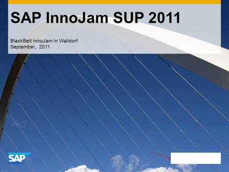SAP InnoJam SUP 2011 BlackBelt InnoJam in Walldorf September, 2011.