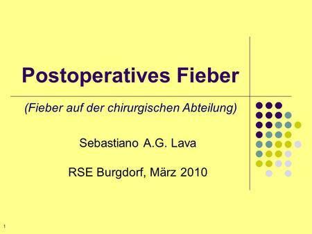 Postoperatives Fieber