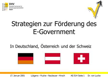 Strategien zur Förderung des E-Government