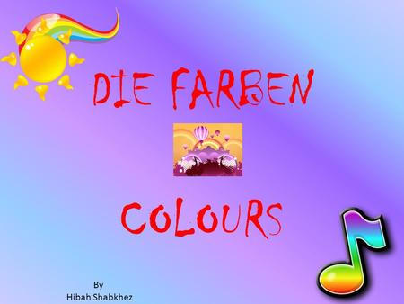 DIE FARBEN COLOURS By Hibah Shabkhez. rotred ENDINGS rosapink.