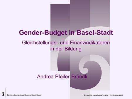 Gender-Budget in Basel-Stadt