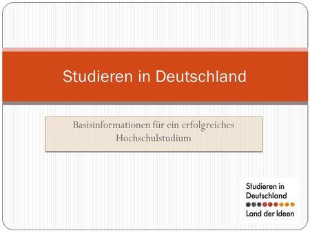 Studieren an bayerischen hochschulen ppt herunterladen for Studieren in deutschland