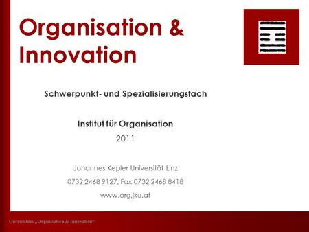 Organisation & Innovation
