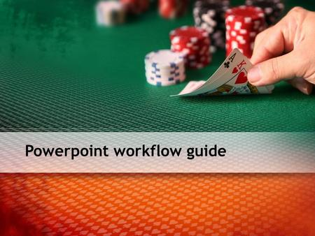 Powerpoint workflow guide. Voraussetzungen MS Office 2007 Audio-Software (z.B. Audacity) Camtasia.