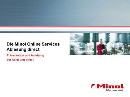 Die Minol Online Services Ablesung direct