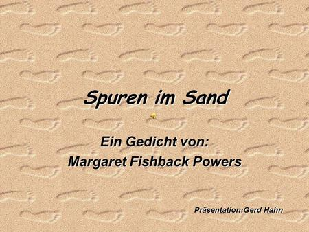 Ein Gedicht von: Margaret Fishback Powers