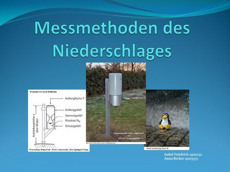 Messmethoden des Niederschlages
