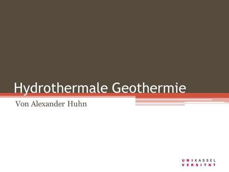 Hydrothermale Geothermie