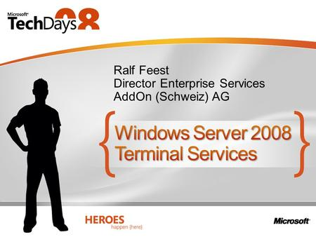Windows Server 2008 Terminal Services
