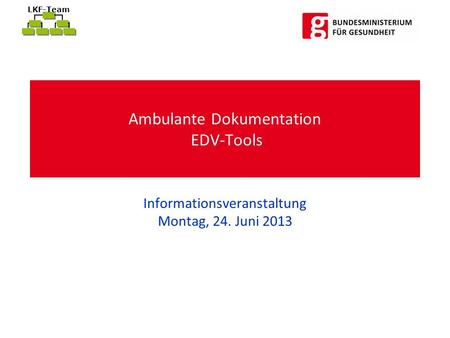Ambulante Dokumentation EDV-Tools
