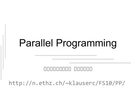 Parallel Programming Condition Queues