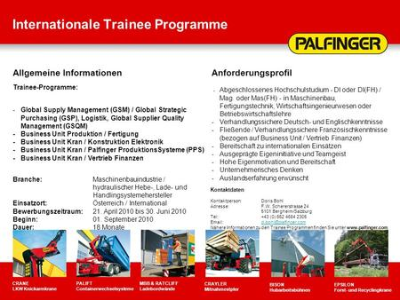 Internationale Trainee Programme