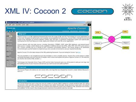 XML IV: Cocoon 2. The Reactor Pattern Das Reactor Pattern ermöglicht Demultiplexing und Verteilung von Service Requests bei ereignisgesteuerten Anwendungen.