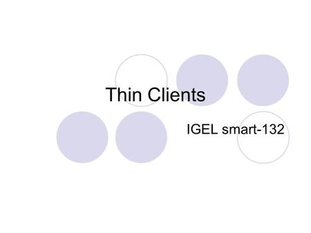Thin Clients IGEL smart-132.
