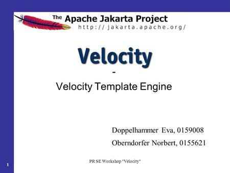 - Velocity Template Engine