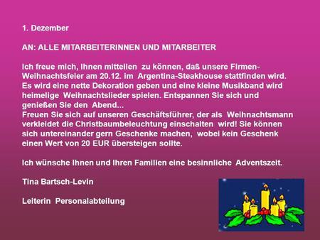 einladung zur weihnachtsfeier 1. dezember - ppt video online, Einladung