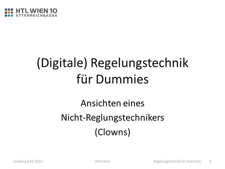 (Digitale) Regelungstechnik für Dummies
