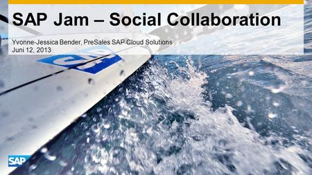 SAP Jam – Social Collaboration