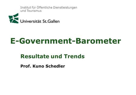 E-Government-Barometer