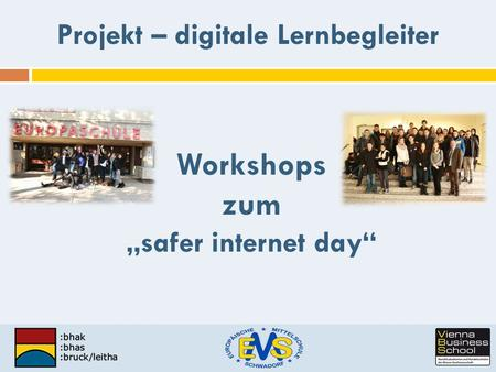 "Workshops zum ""safer internet day"""