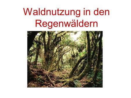 Ökologische folgen nicht angepasster landnutzung