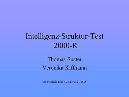 Intelligenz-Struktur-Test 2000-R