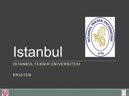 Istanbul ISTANBUL TEKNIK ÜNIVERSITESI KRISTEN. Studium an der ITÜ Geophysical Engineering Mining Engineering Petroleum and Natural Gas Engineering Mineral.