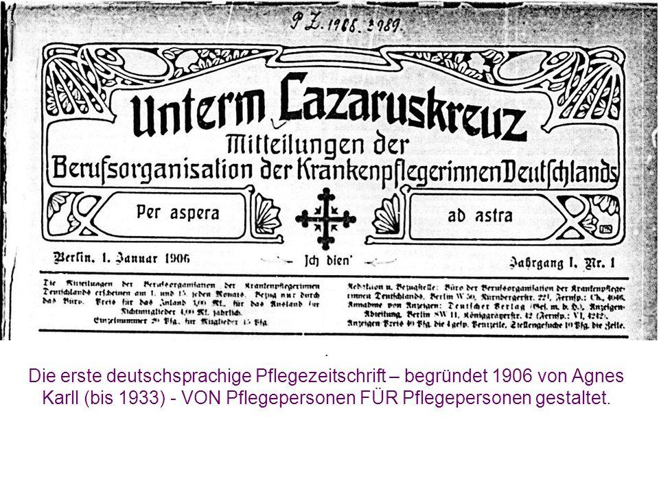 """Das """"Lazarus-Kreuz (Blattkreuz) führt der DBfK noch heute in seinem offiziellen Logo."""