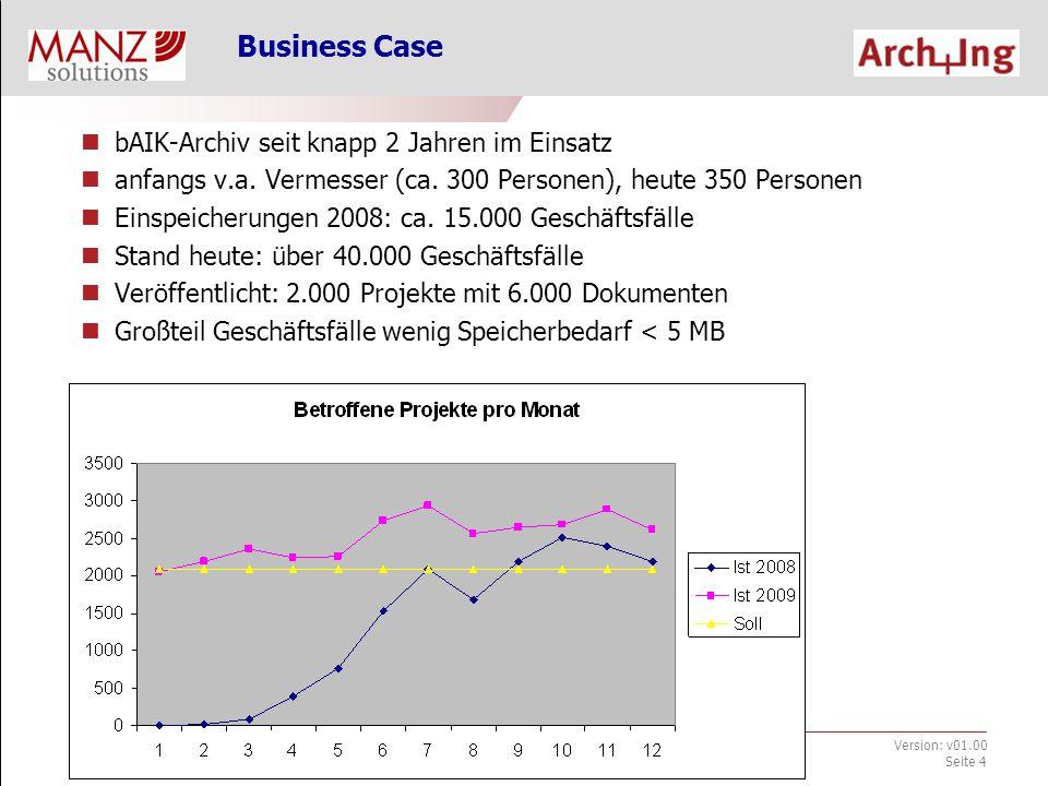 """bAIK-Archiv_Infoveranstaltung.ppt Jänner 2010 Version: v01.00 Seite 5 Organisatorischer Aufbau des bAIK- Archivs 3 sogenannte """"Container : Öffentliche Urkunden (1."""