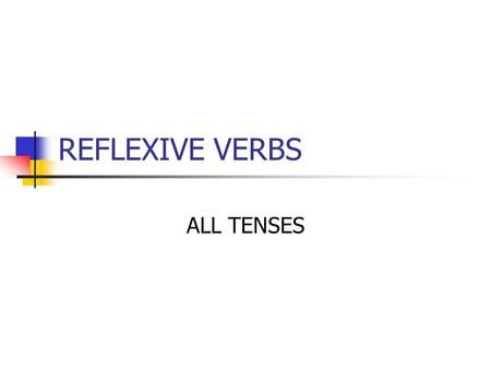 REFLEXIVE VERBS ALL TENSES. INFINITIVES – sich + verb You always start with the INFINITIVE sich amüsieren sich waschen sich freuen sich anziehen NB The.
