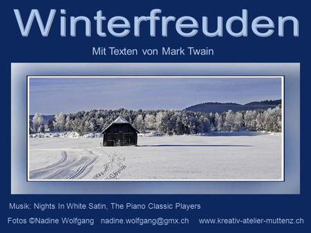 Musik: Nights In White Satin, The Piano Classic Players Fotos ©Nadine Wolfgang  Mit Texten von Mark.