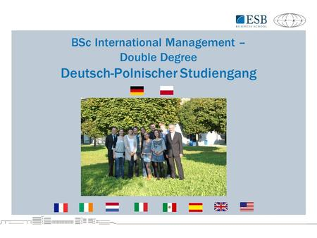 BSc International Management – Double Degree Deutsch-Polnischer Studiengang.