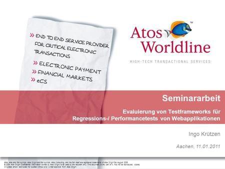 Atos, Atos and fish symbol, Atos Origin and fish symbol, Atos Consulting, and the fish itself are registered trademarks of Atos Origin SA. August 2006.