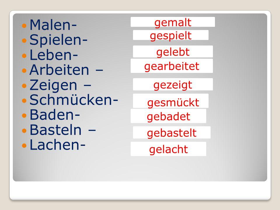 Ge : erzählt Неотделяемые приставки: Be- Zer- Ge- Emp- Er- Ent- Ver- Miβ-