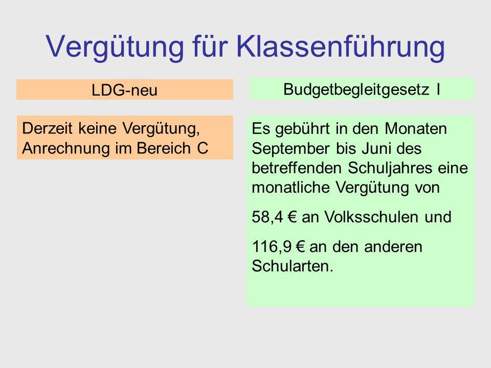 Vergütung für die Verwaltung von Sammlungen (Kustodiate) Es gebührt in den Monaten September bis Juni des betreffenden Schuljahres eine monatliche Vergütung von 42,9 €.