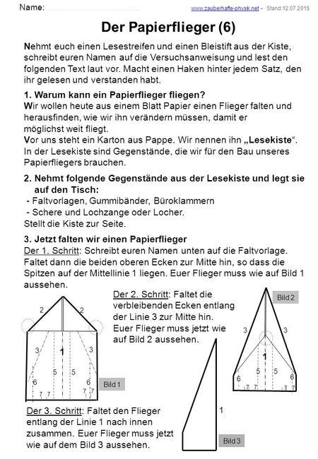 papierflieger der lange fliegt anleitung
