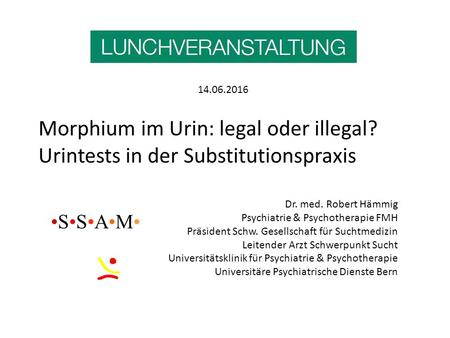 Morphium im Urin: legal oder illegal