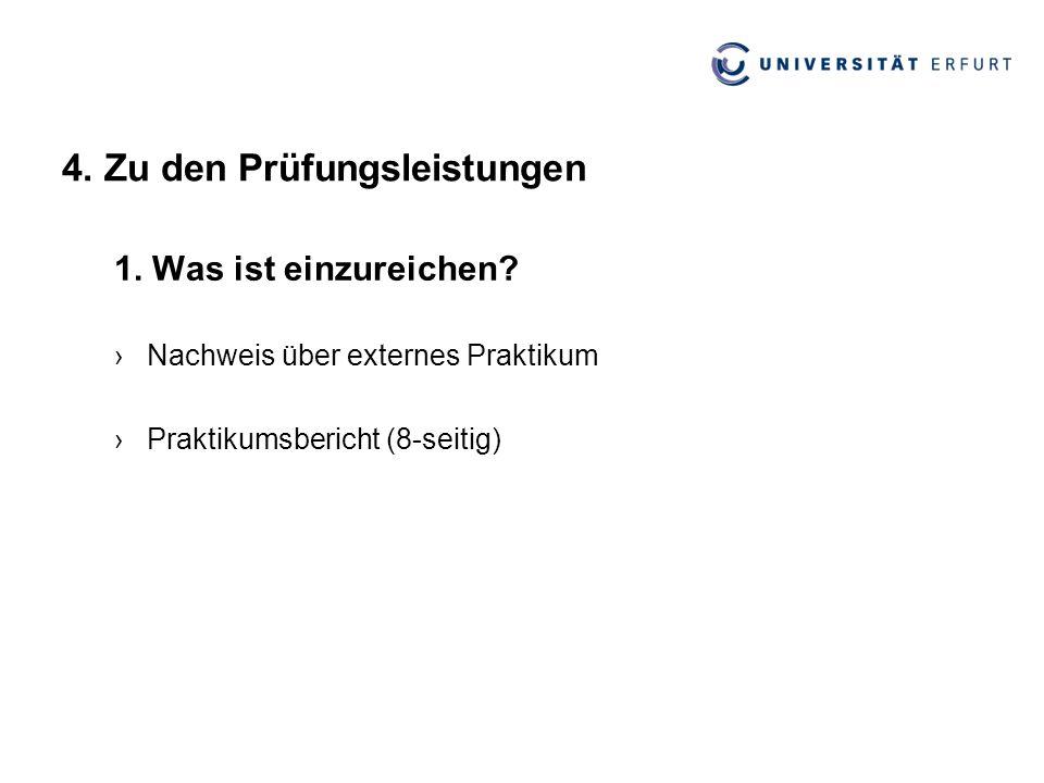 4.Zu den Prüfungsleistungen 2.