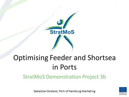 Optimising Feeder and Shortsea in Ports StratMoS Demonstration Project 3b Sebastian Doderer, Port of Hamburg Marketing.
