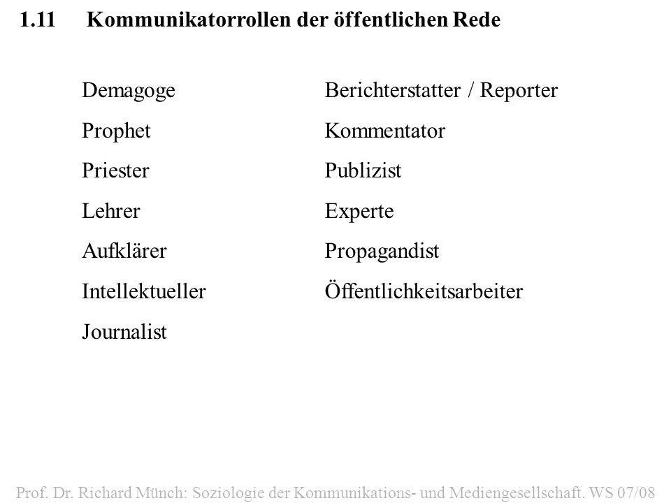 1.12Funktionen von Massenmedien Prof.Dr.