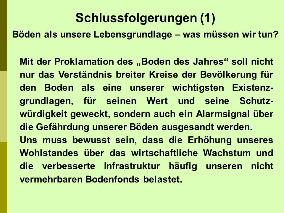 Die Bodenforschung hat in Deutschland einen hohen Stellenwert.