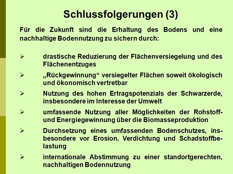 ALTERMANN, M., SCHRÖDER, H.(1992): Zur Kennzeichnung der Schwarz- erden aus Löß in Sachsen-Anhalt.