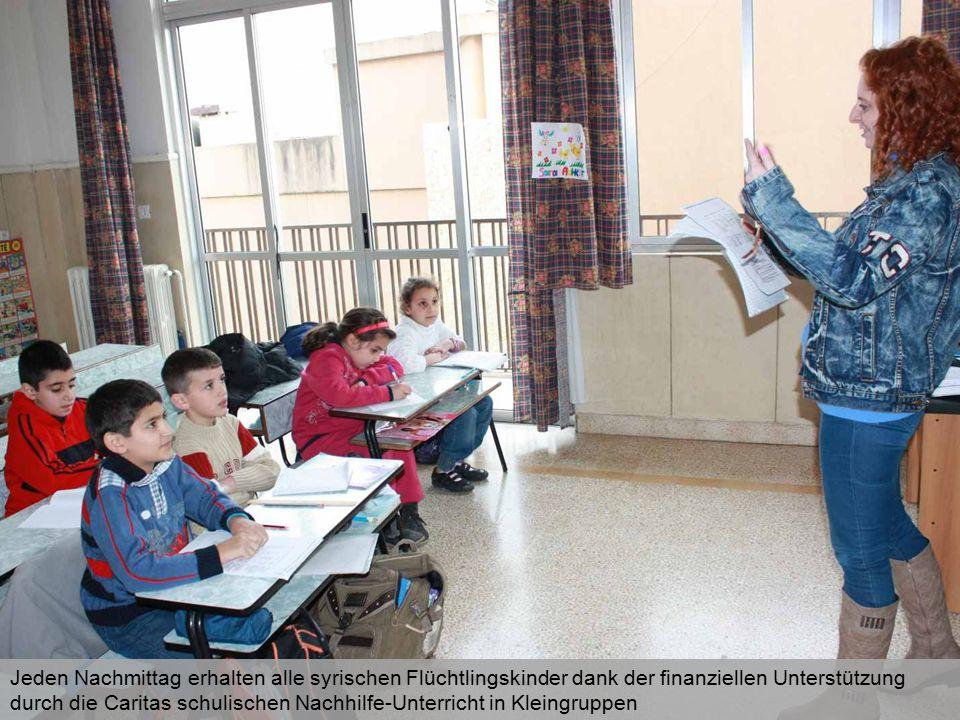Das soll die bestmögliche Eingliederung der Kinder in das libanesische Schulsystem fördern